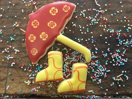 Regenschirm mit Gummistiefel