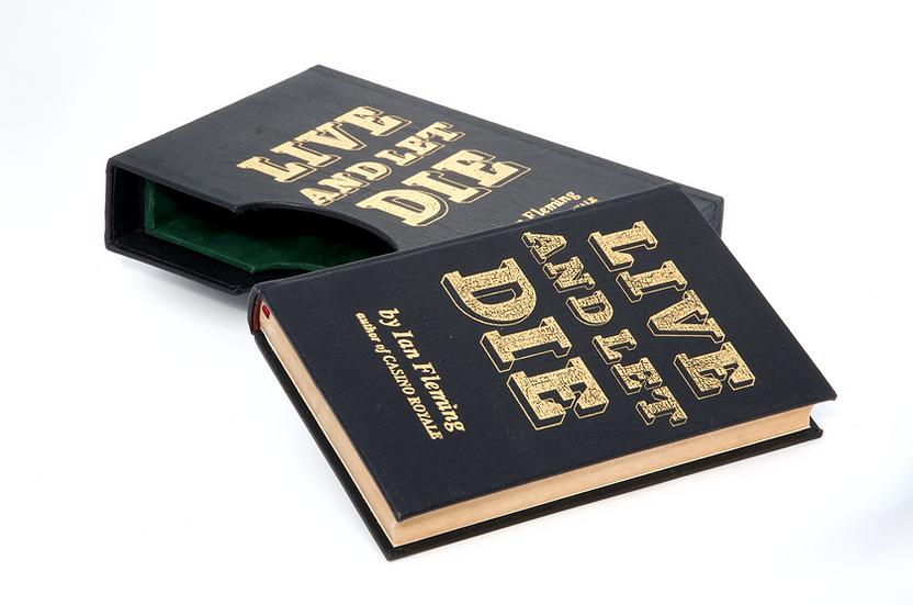 Live & Let Die 1st/1st - Full leather rebind in slipcase
