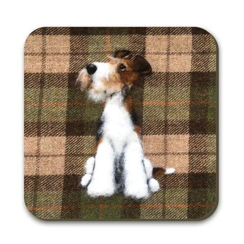Fox terrier Coaster x 2