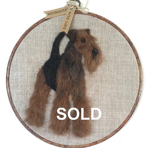 Airedale Terrier Hoop