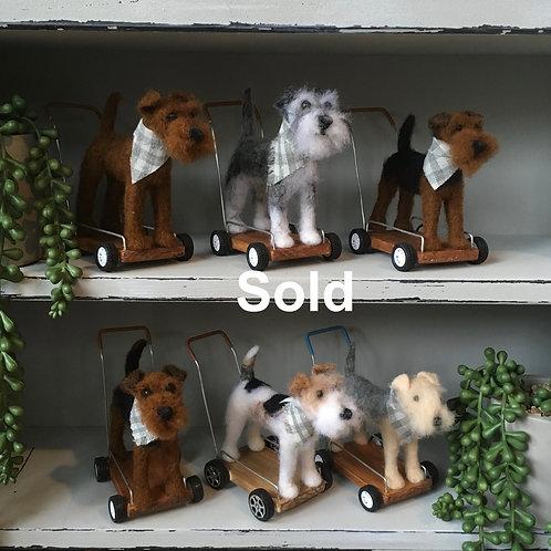 Vintage terrier [Airedale]