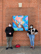 Change Makers at the unveiling of Austin Miles' mural in Downtown Hopewell.