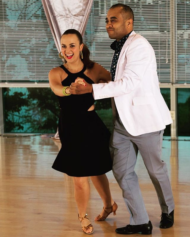 Salsa Showcase with my student