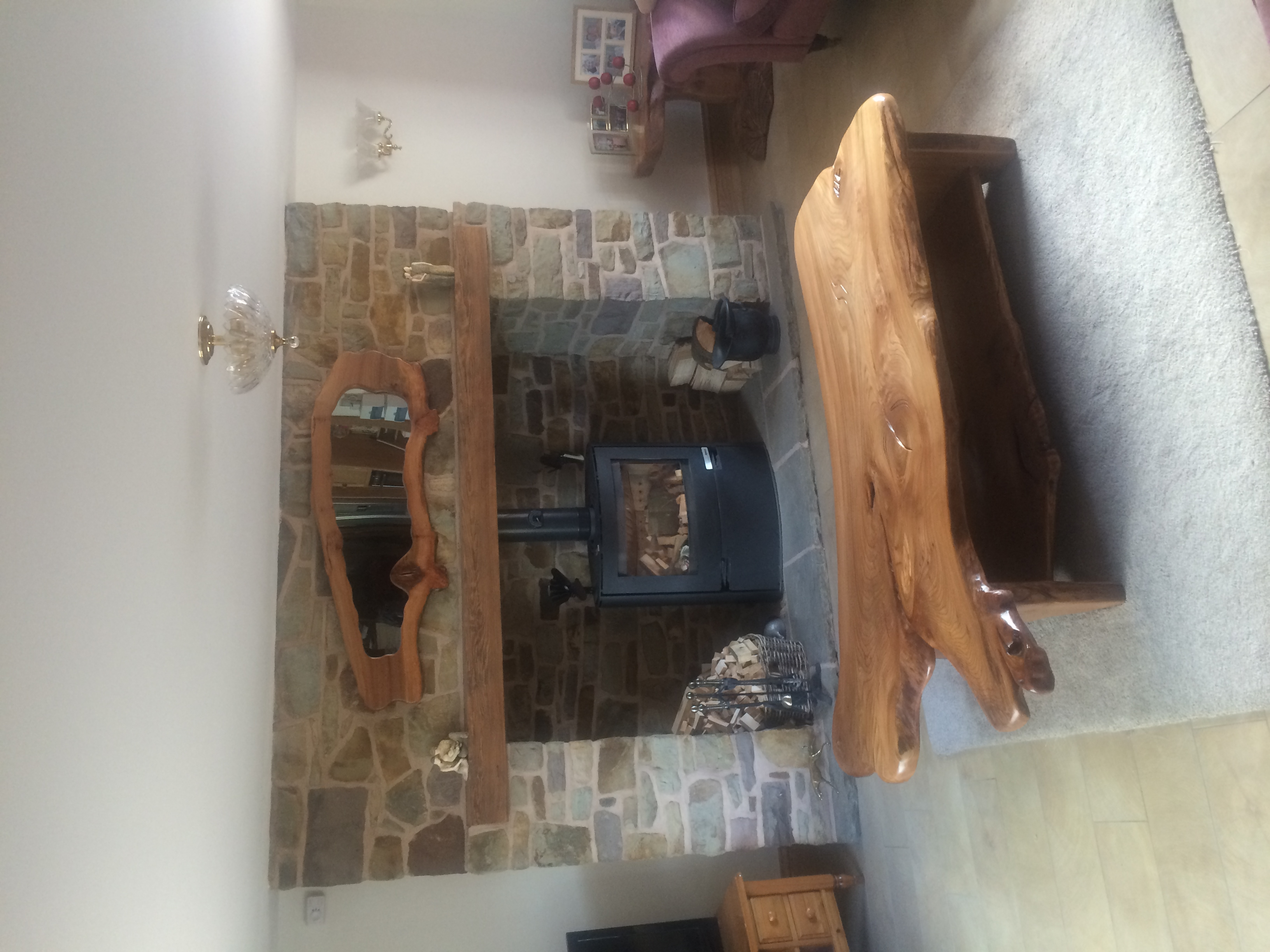 Rustic Coffee Table and Mirror