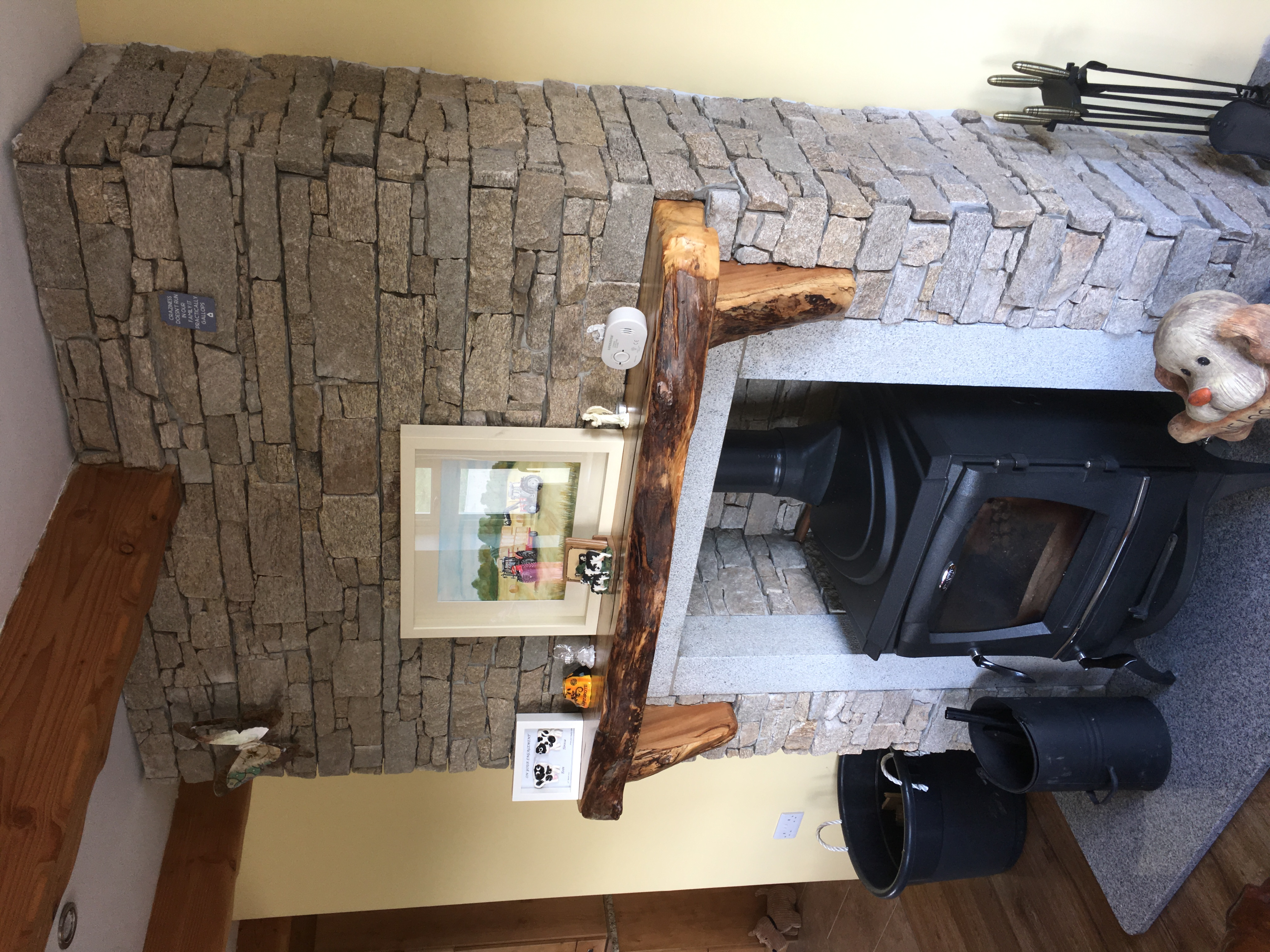 Rustic Edged Mantle Beam