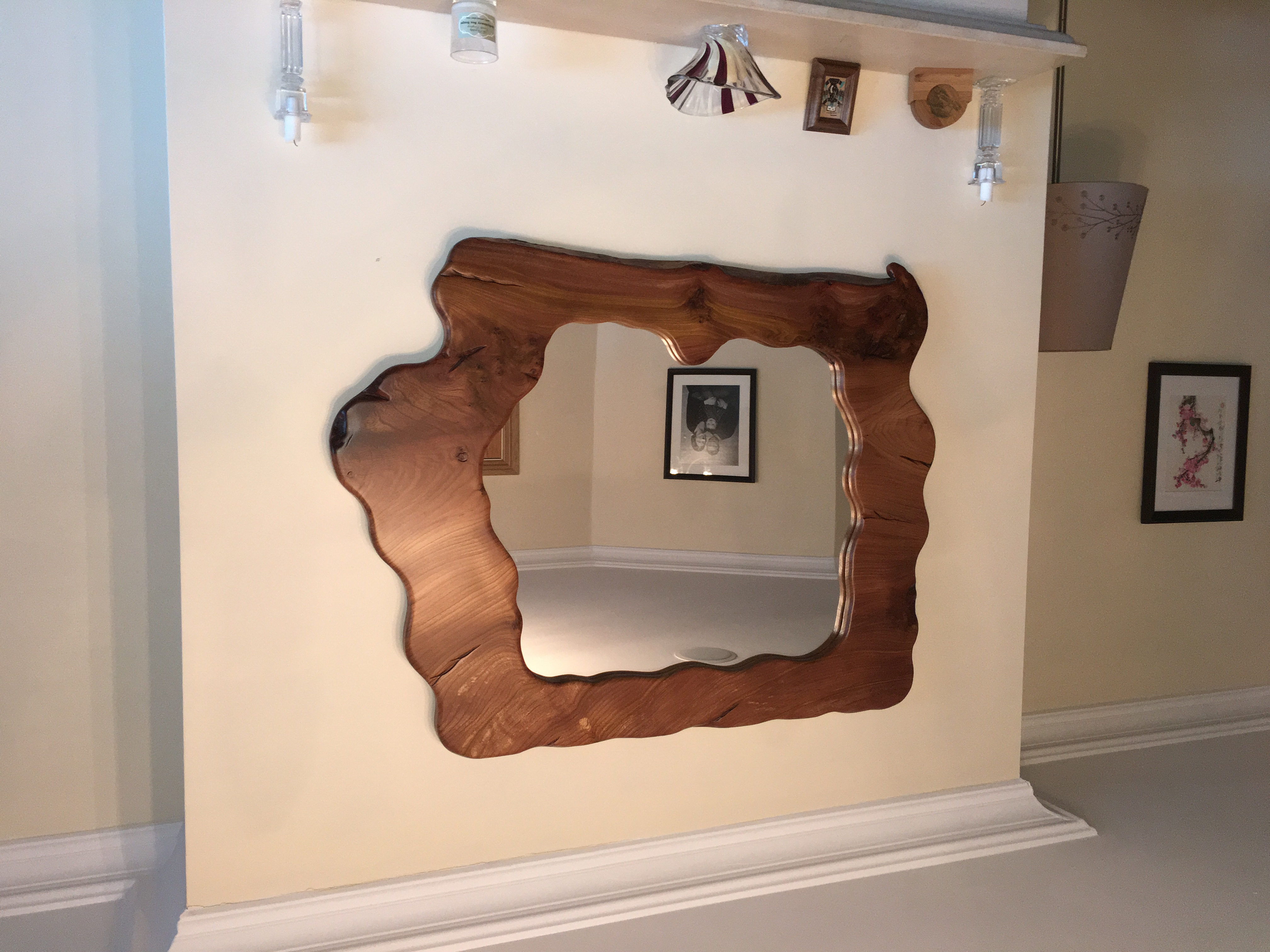 Rustic Over Mantle Mirror
