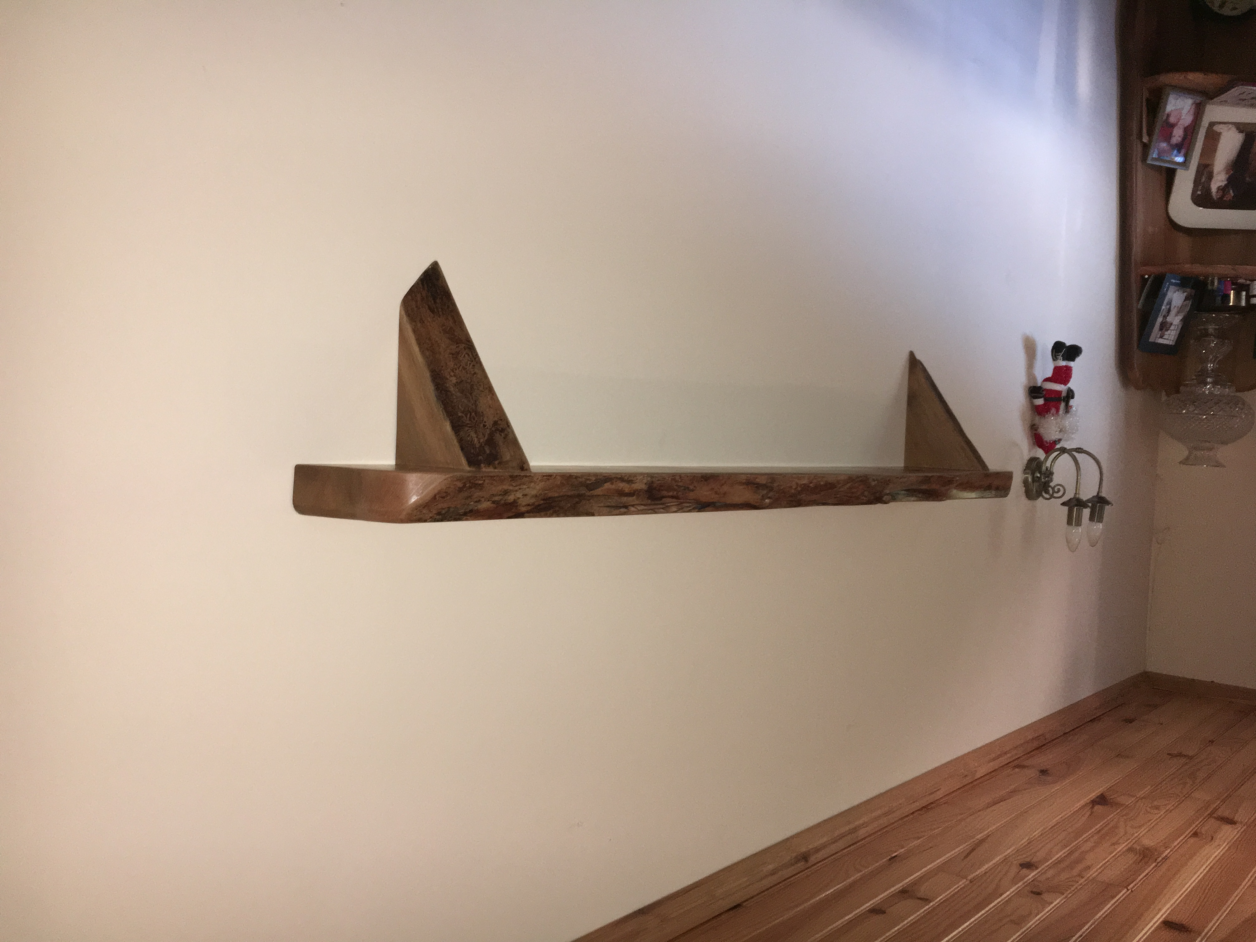 Free Floating Elm Shelf
