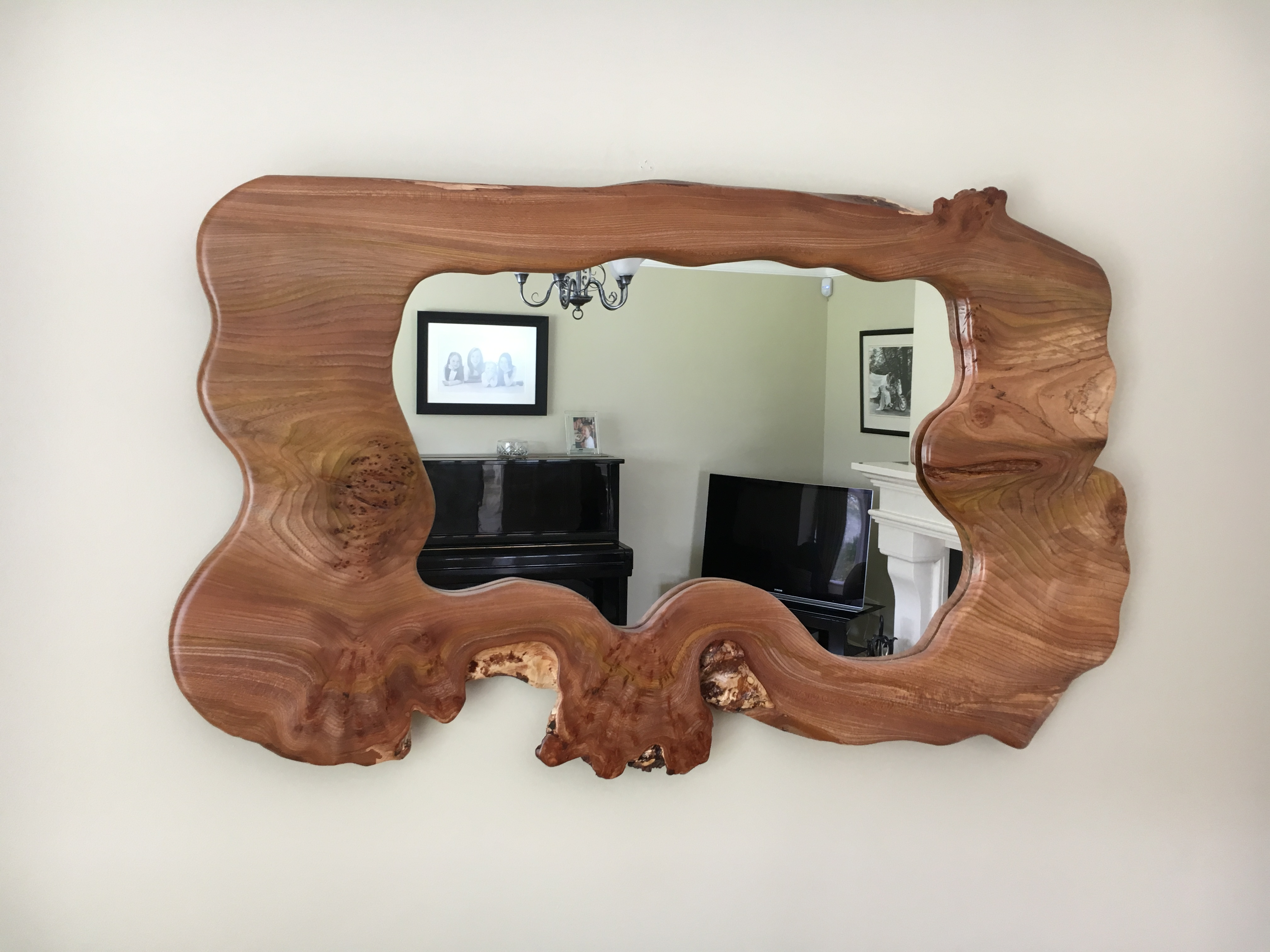 Elm over mantle mirror