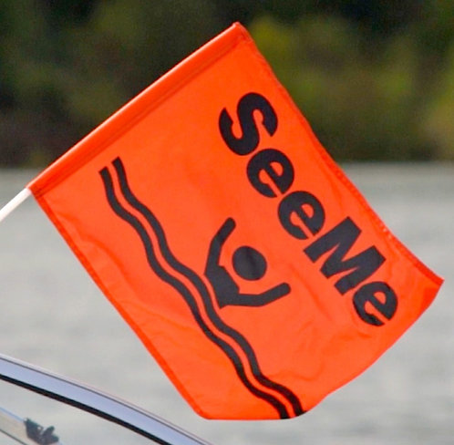 Skier-down/SeeMe Flag WITH clamp