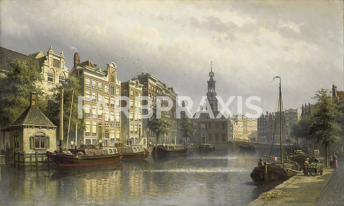 Eduard Alexander Hilverdink | The Singel, Amsterdam, looking towards the Mint.