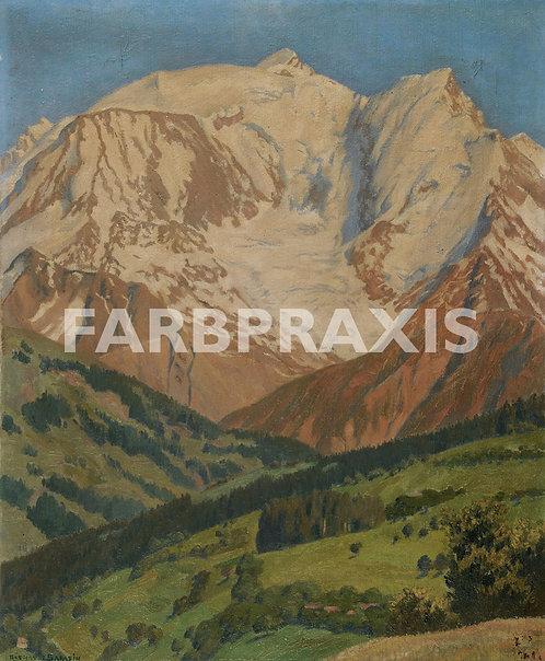 Regnault Sarasin | Mont Blanc depuis Combloux