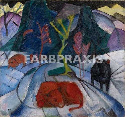 Franz Marc | Bison im Winter (Roter-Bison)