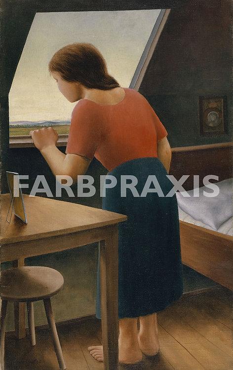 Georg Schrimpf | Mädchen am Fenster (Am Morgen)