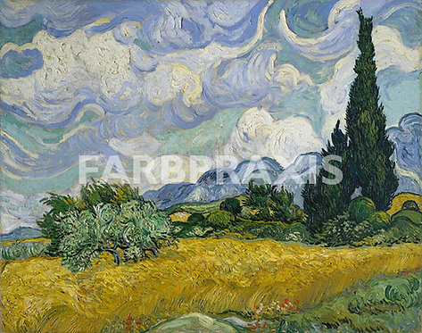 Vincent van Gogh | Wheat Field with Cypresses | 1889