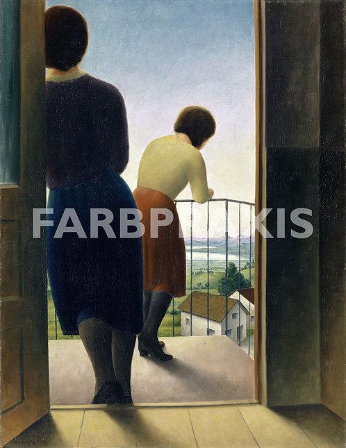 Georg Schrimpf | Auf dem Balkon (Mädchen auf dem Balkon)