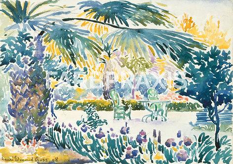 Henri-Edmond Cross | Garden of the Painter at Saint Clair