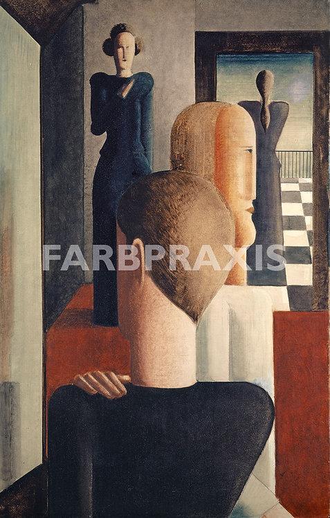 Oskar Schlemmer | Fünf Figuren im Raum, Römisches