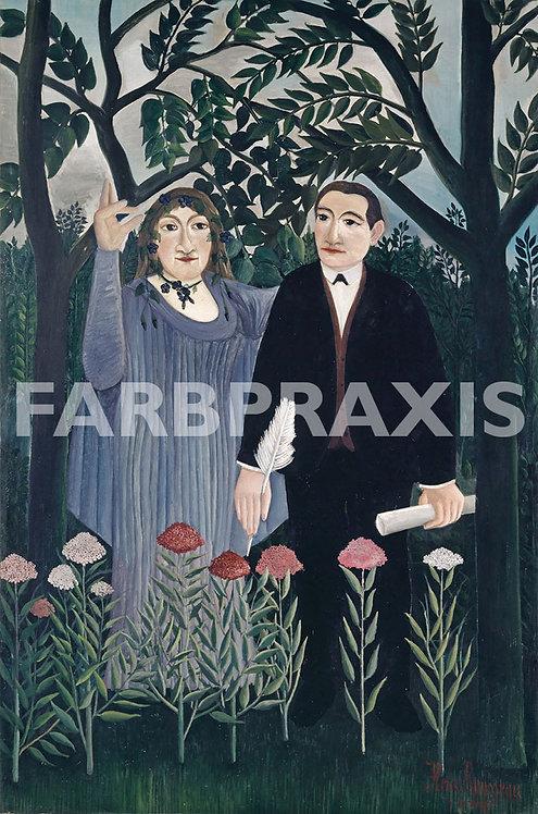 Henri Rousseau | La muse inspirant le poete