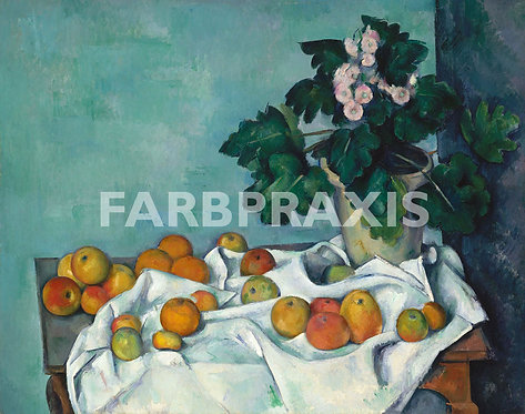 Paul Cezanne | Still Life with Apples and a Pot of Primroses