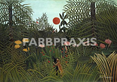 Henri Rousseau | Foret vierge au soleil couchant