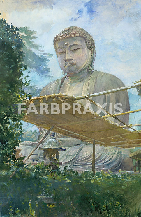 John La Farge | The Great Statue of Amida Buddha at Kamakura
