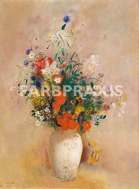 Odilon Redon | Vase of Flowers (Pink Background)