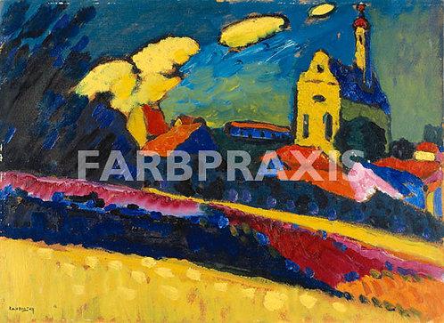 Wassily Kandinsky | Studie zu Murnau - Landschaft mit Kirche