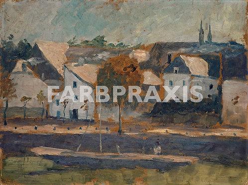 Ernst Schiess | Kleine Stadt an Kanal