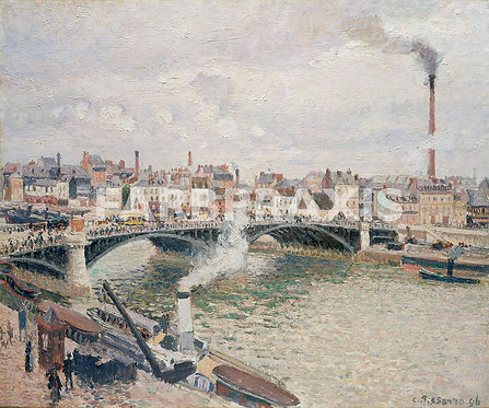 Camille Pissarro   Morning, An Overcast Day, Rouen