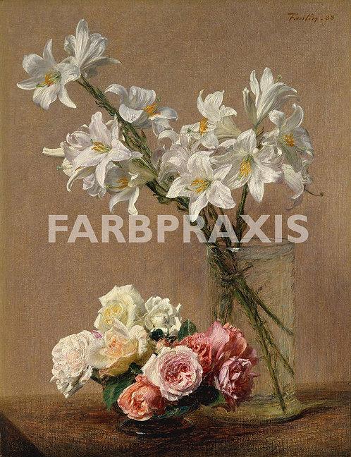 Henri Fantin Latour | Roses and Lilies