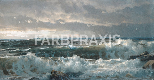 William Trost Richards | Surf on Rocks