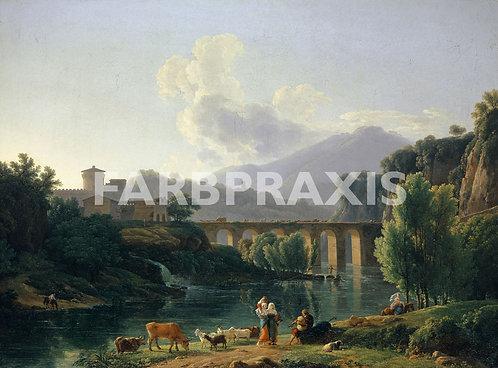Jean Joseph Xavier Bidauld | Römische Landschaft mit Viadukt
