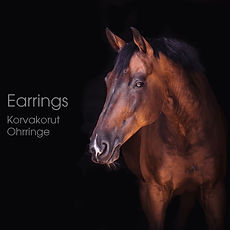 Horsehair earrings Ohhrringe mit pferdeh