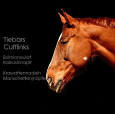 equestrian tiebar cufflink manschettenkn