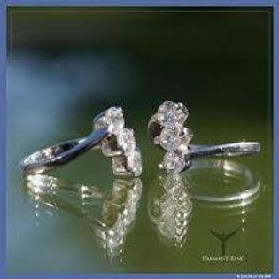 Anillo y Pendientes de Diamante