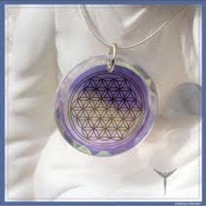 Medallon Flor de la Vida de Diamante