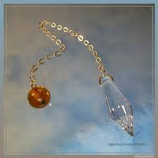 Péndulo Ángel de Cristal ( perla de cristal o piedra mineral)