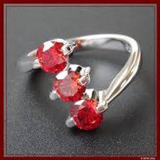 Anillo y Pendientes de Diamante Rojo Rubí