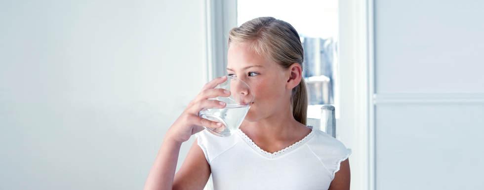 Girl Drinking Water