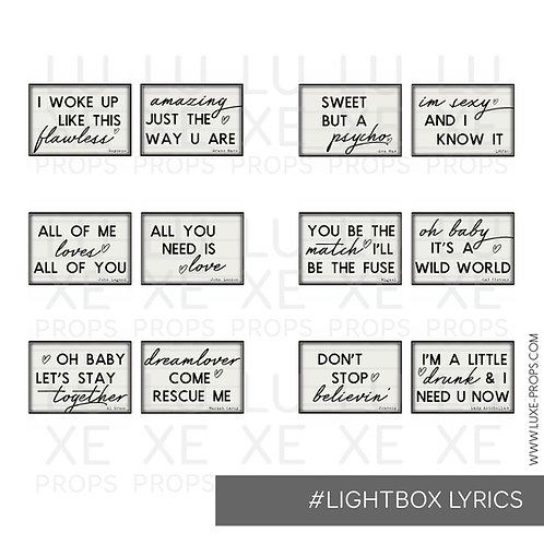 Lightbox Lyrics 1.0