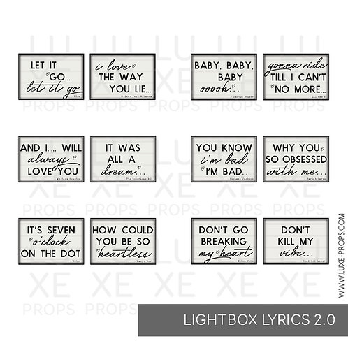 Lightbox Lyrics 2.0