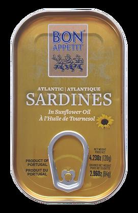 Sardinen in Sonnenblumenöl 120 g