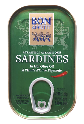 Sardinen in scharfem Olivenöl 120 g