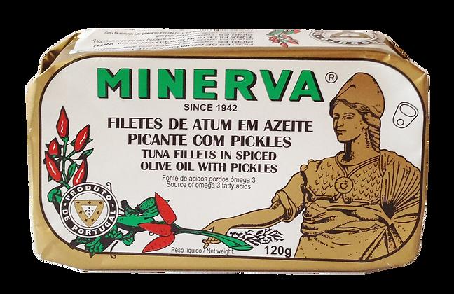Thunfischfilets in Olivenöl mit Pickles 120 g
