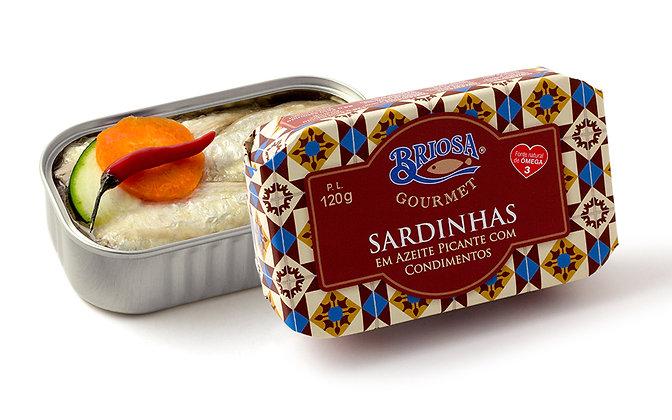 Gewürzte Sardinen in scharfem Olivenöl 120 g