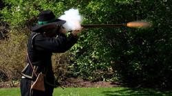 Live musket firing