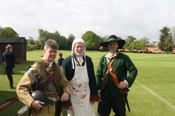 Group reenactor visits