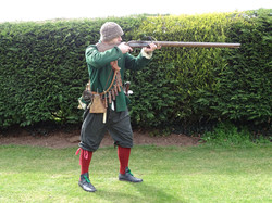 Civil war musketeer