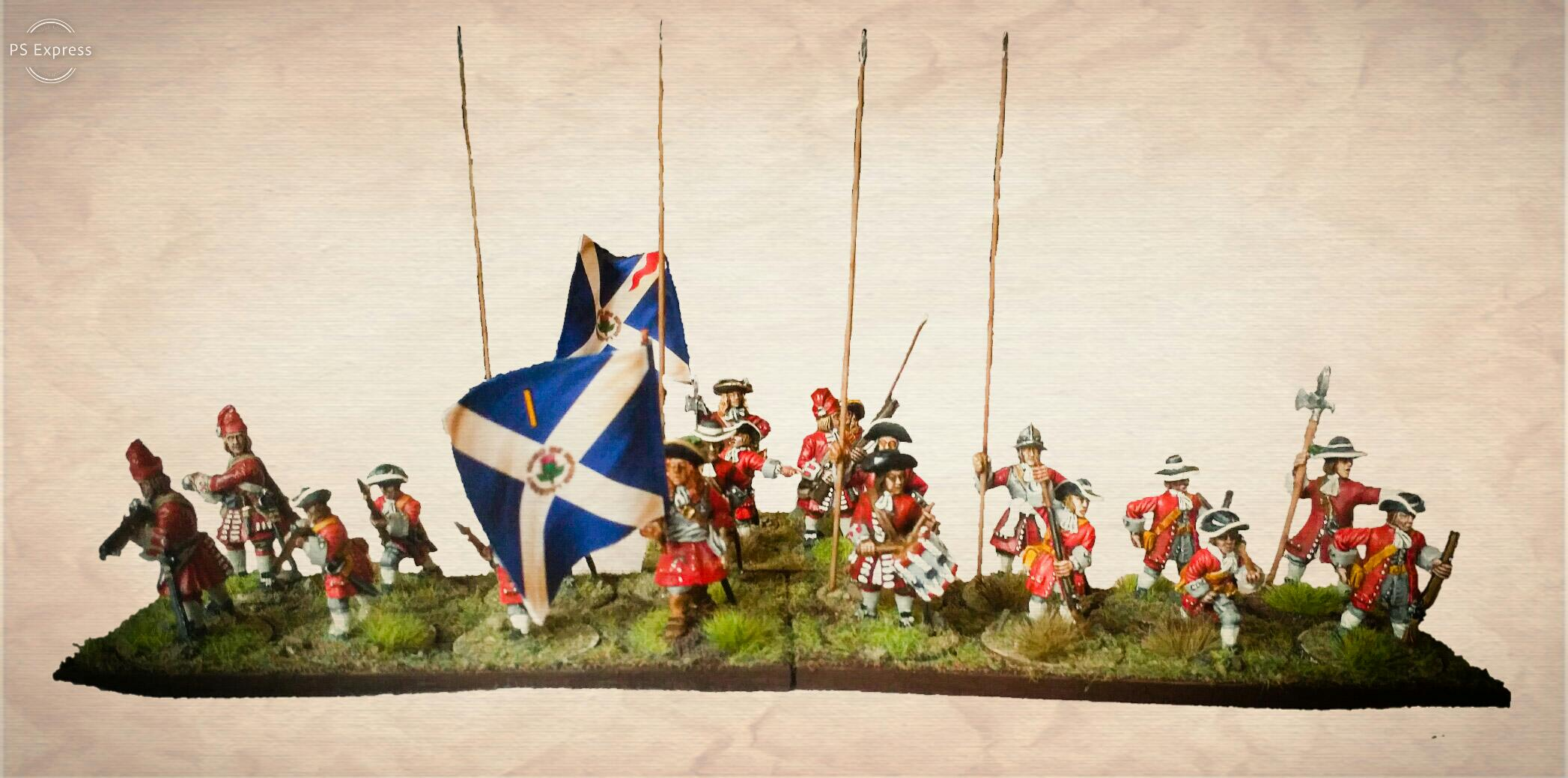 Sedgemoor diorama for the Monmouth Rebellion