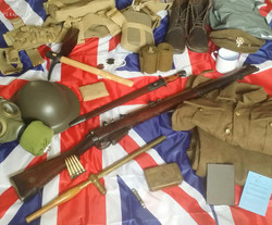 A soldier's kit of the Great War
